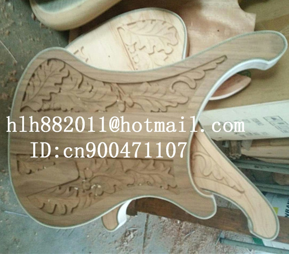 free shipping Big John new mahogany electric guitar body with carving in natural without paint F 3351