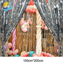 1m*2m 4Pcs/lot Wedding Backdrop Tinsel Curtain Photo Booth Foil Door Birthday Sequin Mermaid Party Decorations