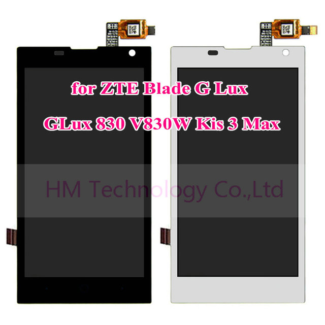 """4.5"""" LCD+TP for ZTE Blade G Lux Kis 3 Max V830 V830W LCD Display and Touch Screen Digitizer Panel Assembly Free Shipping+Tools"""