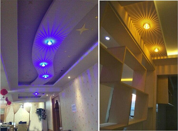 lâmpada do teto incorporado luz de dispersão