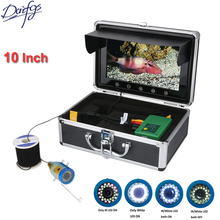 10 Inch TFT HD 1000TVL Underwater Fishing Camera 30M 50M 15pcs White  LEDs + Infrared Lamp For Sea/ Ice fishfinder