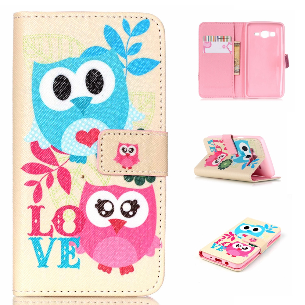 huge selection of e4b34 84e3d US $3.99 |Flip Cover for Samsung Galaxy On5,Fashionable Printing Shockproof  PU Leather Wallet Flip Cover Case for Samsung Galaxy On5 G5500 on ...