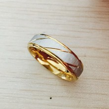 2017 Fashion Accessories Simple Stainless Steel Ring Gold Wedding Ring for Men and Women