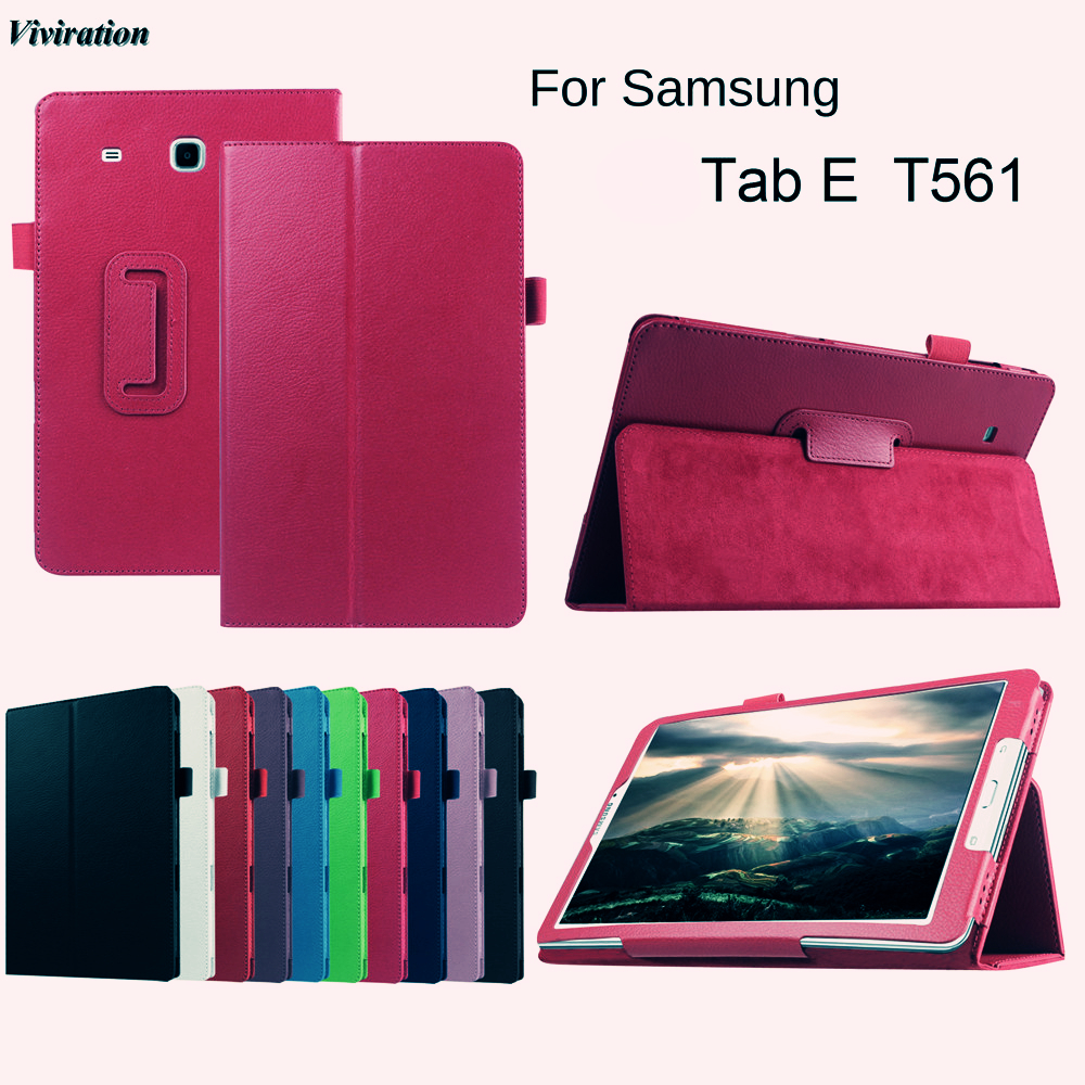 2017 Newest Luxury Protective Skin/Shell Stand Tablet Cover For Samsung Tab E T560 T561 9.6 Flip PU Leather Tablet Cover Case luxury flip stand case for samsung galaxy tab 3 10 1 p5200 p5210 p5220 tablet 10 1 inch pu leather protective cover for tab3
