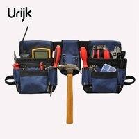 Urijk Oxford Outdoor Work Tool Bag Organizer Pouch Belt Men Hand Tools Waist Bag Hanging Bag Electrician Work Multi Pockets