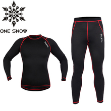 2017 New ONE SNOW Winter sports Thermal Underwear for sports Men Brand Quick Dry Anti-microbial Stretch Men's Thermo Underwear