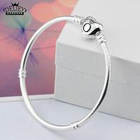DELIEY Genuine 100 925 Sterling Silver Snake Chain Bracelet Bangles Fashion Jewelry For Women Fine Jewelry