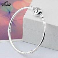 DELIEY Genuine 100 925 Sterling Silver Snake Chain Bracelet Bangles Fashion Jewelry For Women Fine Jewelry