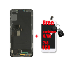 [Free Gift] 100% Guarantee for iPhone X lcd Screen on X Display Screen Replacement Assemble Black Pantalla with Repair Tool OEM все цены