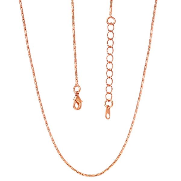 1PC Fine Jewelry Findings 455cm Necklace Chains Rose Gold 10MM O