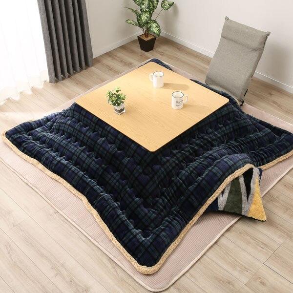De luxe Kotatsu Futon Couverture Patchwork Style Coton Doux Couette Japonais Kotatsu Table Couverture Carré/Rectangle Couette 190/240