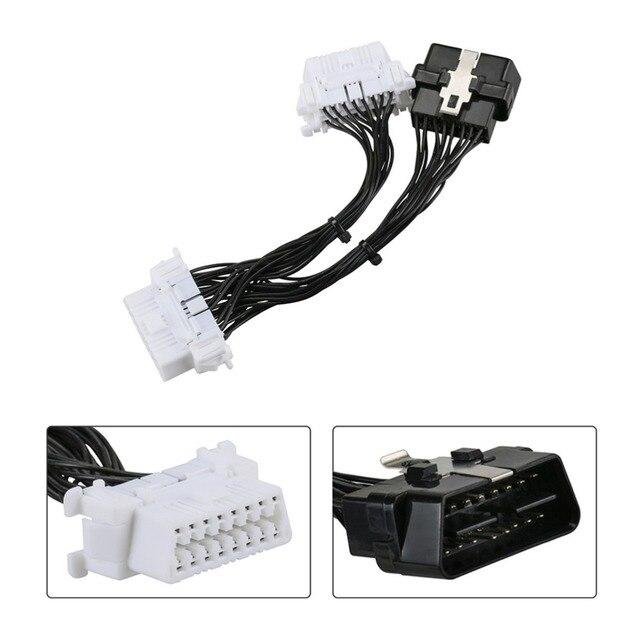 AUTOOL 16 pin OBD2 OBDii OBD 2 Splitter кабель-удлинитель один мужчина до двух Женский Y Cable OBD2 сплиттер расширение для ELM327 Icar2