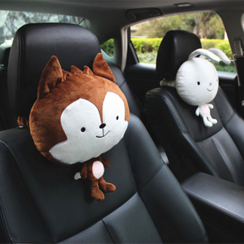 2 pcs neck pillows Descendants of the sun wolf rabbit bunny Car neck pillow plush doll toys for children 1pc 30cm cute descendants of the sun the same paragraph plush toy secondary group wolf king