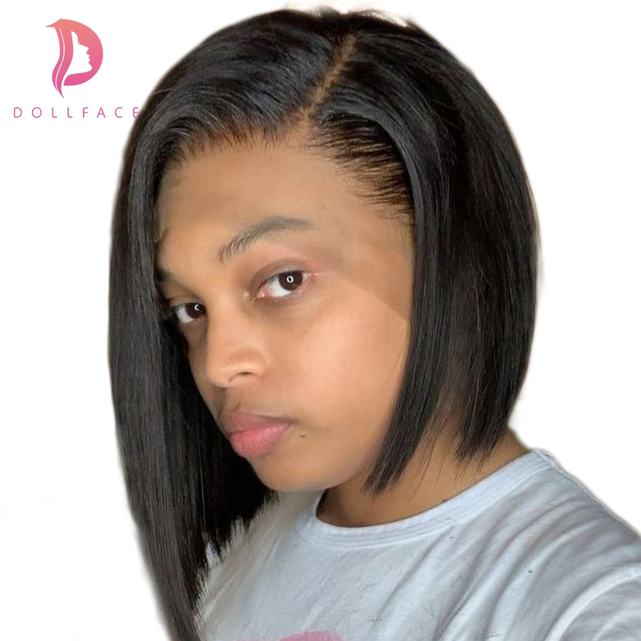 Short Lace Front Brazilian Remy Hair Wigs