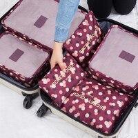 RUPUTIN 6 шт./компл. багажа Travel Organizer Сумки Водонепроницаемый проект упаковка организатор дорожные сумки Одежда Сумки дорожные аксессуары