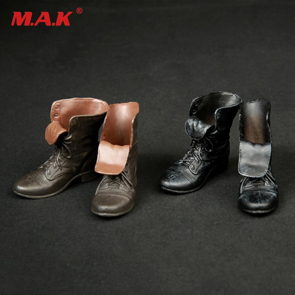 1/6 Весы мужской фигуры Обувь модель популярная обувь черный/коричневый Цвет полный внутри для 12 дюйм(ов) солдат аксессуар