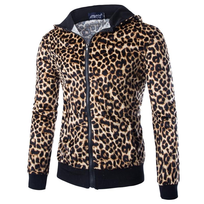 Leopard Mäntel Kapuze Slim Fit Jacke Us21 Frühling Und Herren Herbst Mit Zipper 2019 Männer Gedruckt 7Off Casual 38 Jacken eQCBrWdxo