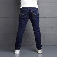 Gorąca Sprzedaż Chłopców Dżinsy 2017 Zima Chłopcy Jeans Spodnie Dla Dzieci Niebieski Kolor Elastyczny Pas Spodnie Jeansowe Dla Dzieci Dla Dzieci Na Co Dzień spodnie