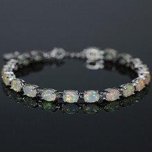 SZ0010 New Trendy Elegant White Fire Opal Bracelets For Women's Bangles Wedding