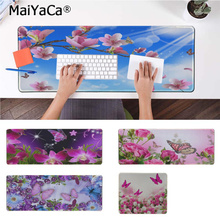 MaiYaCa Hot Sales beautiful flower butterfly Laptop Computer Mousepad Free Shipping Large Mouse Pad Keyboards Mat