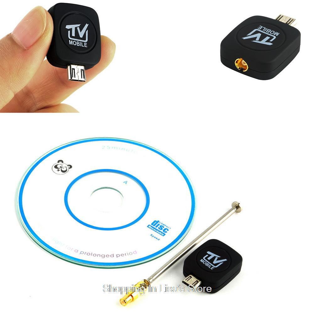 imágenes para Mini Micro USB DVB-T de TELEVISIÓN Digital Móvil Receptor Sintonizador de tv para Android de Teléfono universal