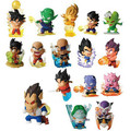 16pcs/1lot Dragon Ball Son Goku Toys 5-7cm Brinquedo Action Figure #1347 Christmas Gift For Kids Free Shipping