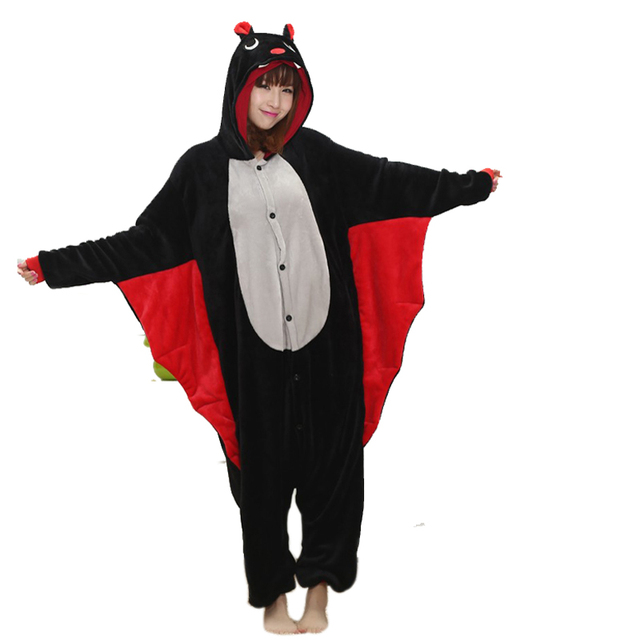 2e832dce8da Funny Animal Onesie Bat Kigurumi For Adult Pajamas Women Men Cosplay  Onesies Sleepwear One piece Pyjamas Halloween Costume Large