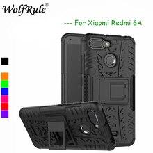 WolfRule Xiaomi Redmi 6 Cases Xiomi Redmi 6A Cover Dual Layer Armor Back Case For Xiaomi Redmi 6A 6 Phone Holder Stand Shells redmi 6a case etui xiaomi redmi 6 6a 7 7a kawaii silicone cover case for funda xiaomi redmi k20 xiomi f1 phone case stand holder