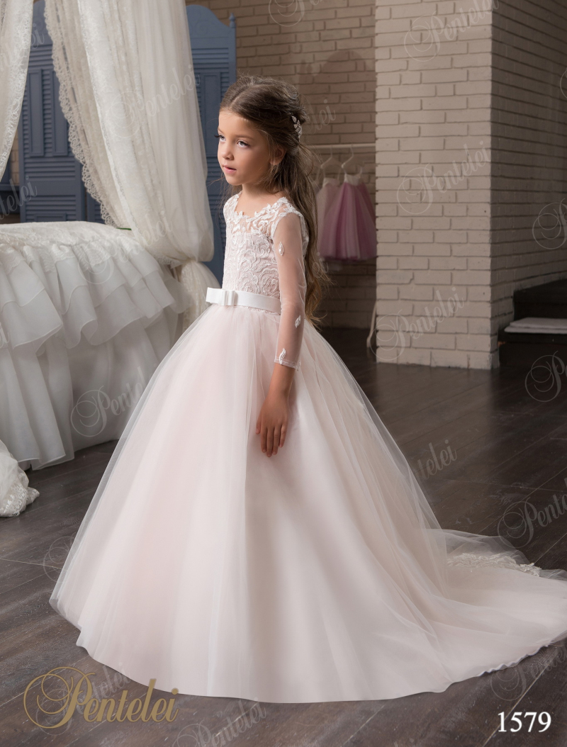 2017 lace tulle flower girl dresses for weddings long