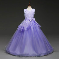Flower Girl Dresses For Weddings Girl Party Dress Carnival Costume For Kids Graduation Gowns Children Vestido