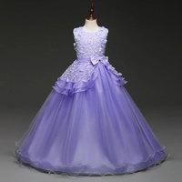 Fiore ragazza abiti per matrimoni Girl party dress costume di Carnevale per i bambini laurea abiti bambini vestido de festa carnaval