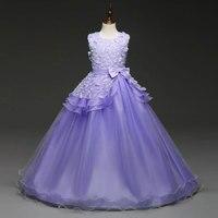 Flower Girl Dresses For Weddings Girl Party Dress Carnival Costume For Kids Graduation Gowns Children Vestido