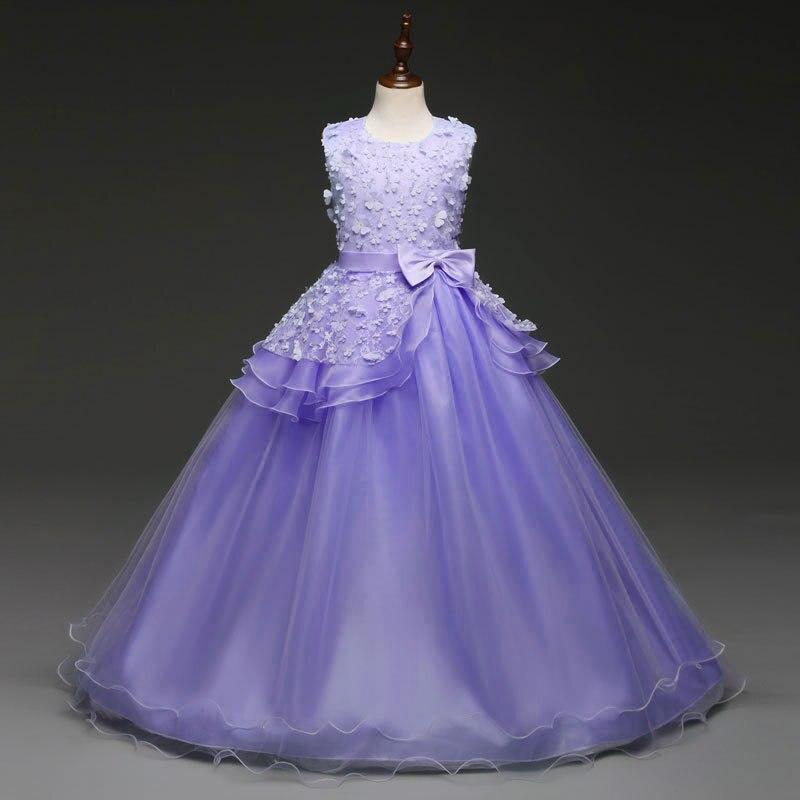 e1e9fbbc7e9 Vestidos para Niñas para bodas otoño 2018 vestido de fiesta largo disfraz  para niños vestidos vestido de fiesta de graduación longo infantil menina