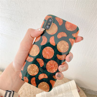 Ins Shell Grain Phone Cases for HUAWEI P10 P20 Pro Nova 2S 3 3i Orange Soft Mobile Shell for Mate20 20Pro Honor 9 10 Simple Case