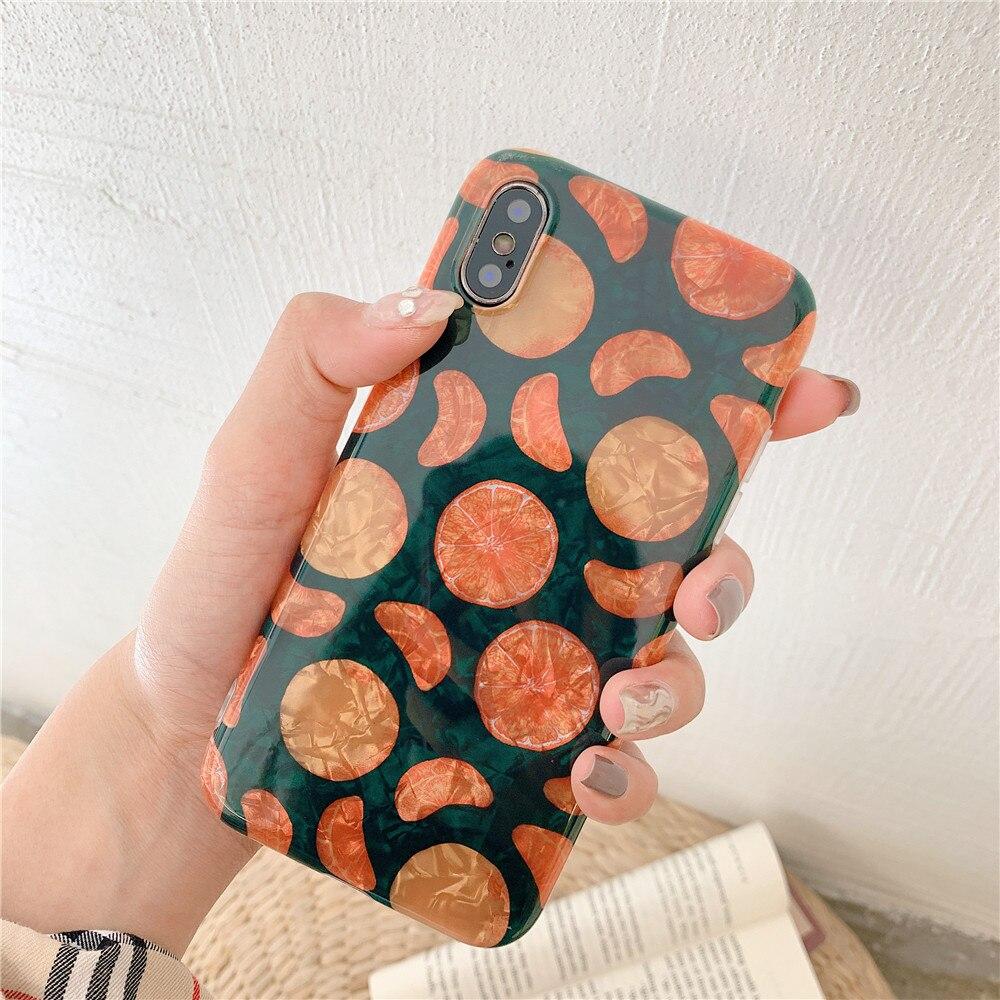 Ins coque Grain téléphone etui téléphone huawei P10 P20 Pro Nova 2 S 3 3i Orange coque Mobile souple pour Mate20 20Pro Honor 9 10 coque Simple