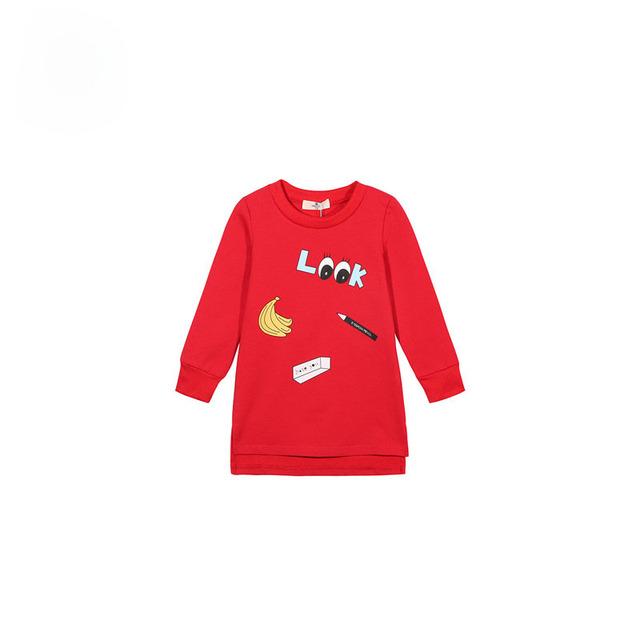 Nuevo Estilo 2016 de Las Muchachas Sudadera Con Capucha Chaquetas abrigos y Chaquetas Para Niños Abrigos Otoño Invierno de Manga Larga Rojo Sudaderas Ropa Caliente