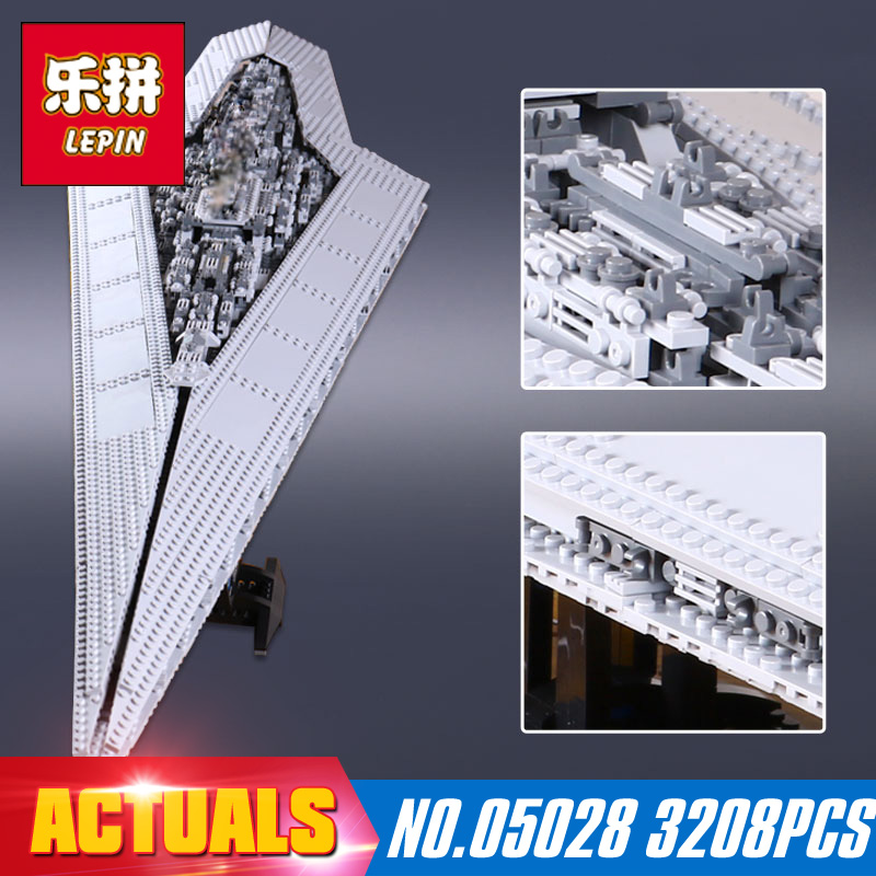 Star Wars DHL Lepin 05028 3208Pcs Building Blocks toy  Execytor Imperial Destroyer Model Block Brick Compatible 10221 lepin 05028 3208pcs star wars building blocks imperial star destroyer model action bricks toys compatible legoed 75055