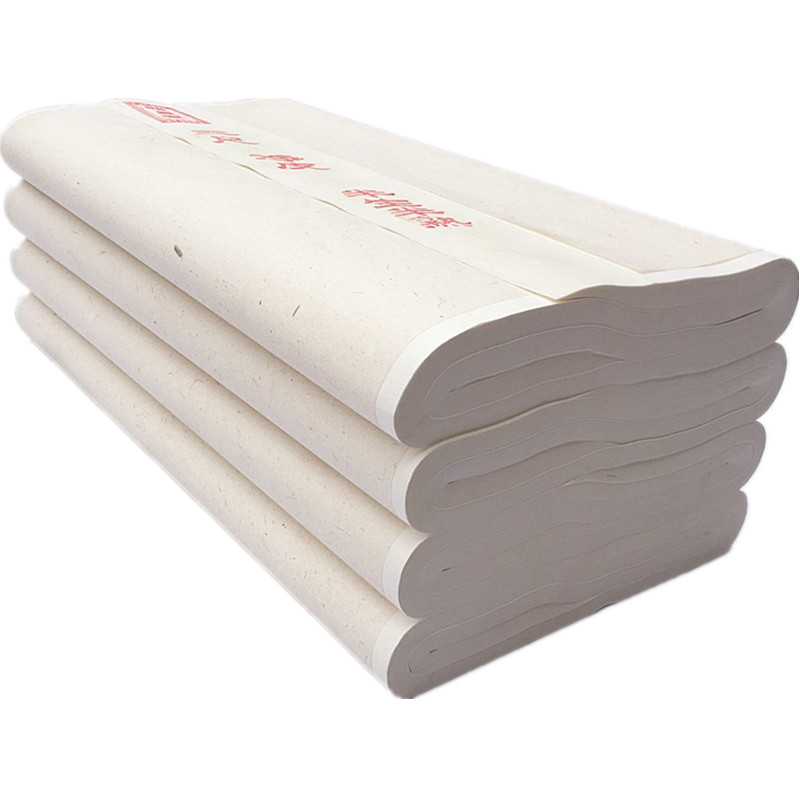 100 feuilles Xuan papier pour calligraphie chinoise écriture peinture chinoise mi mûre et crue Xuan papier calligraphie papier de riz|  -