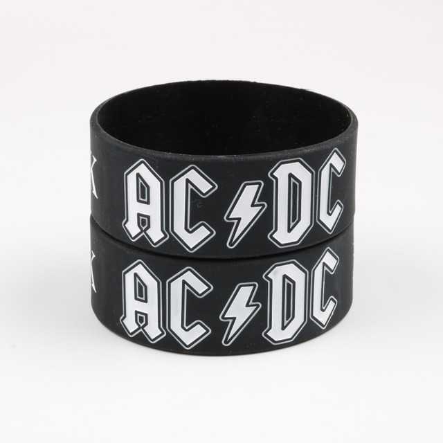 2018 New Arrival AC/DC Silicone Bracelet Heavy Metal Music Band ...