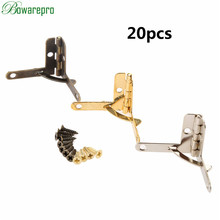 20pcs 22*28MM Angle Support Spring Hinge Lid 90 Degree Hinge for Antique Jewelry Gift Wine Case Watch Box Wood Lid Hardware New hot 12pcs antique brass hinges jewelry gift wine case watch box wood lid l 90 degree support spring hinge hinges for boxe w srew