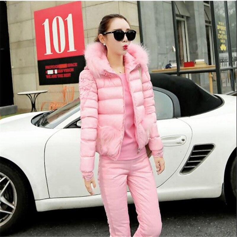 De Hiver As821 pink Automne Coton Tempérament Trois 2018 D'hiver Et Épais Minceur Slim Mode pièce Costume purple Femmes Nouvelles Blue 5aa8Hw