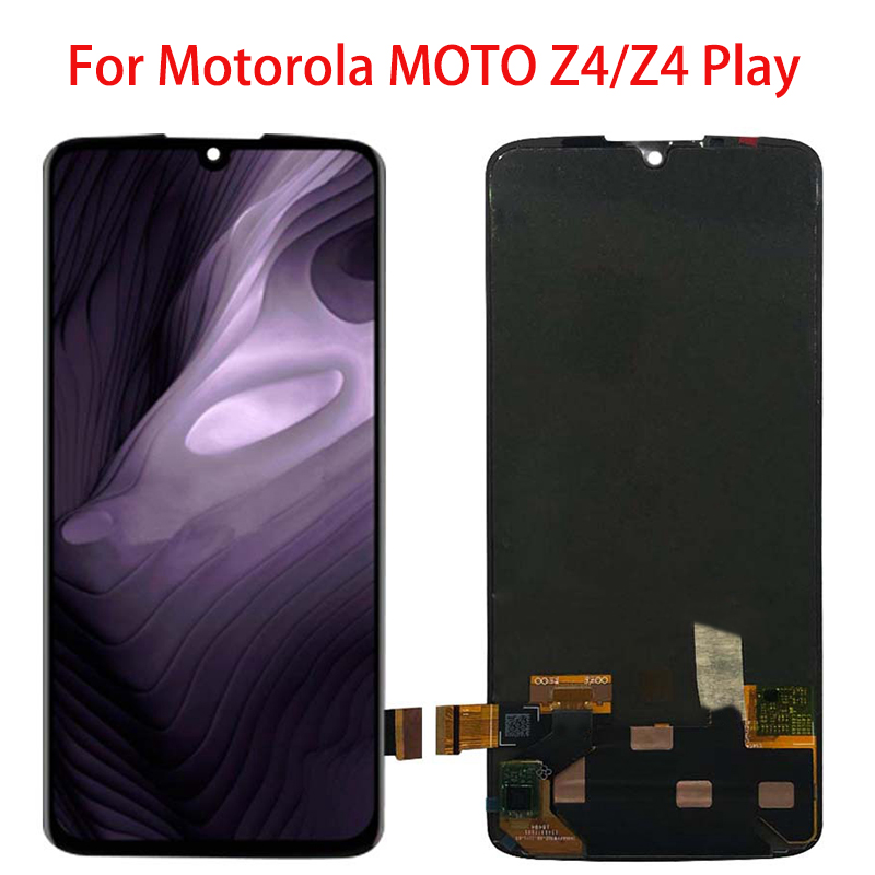 "6.4"" For Motorola MOTO Z4 LCD Display Touch Screen Digitizer Assembly Replacement For Motorola MOTO Z4 Play LCD Display Black"