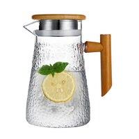950ml Water Bottle Glass Teapot Heat resistant Water Kettle Explosion proof Heatable Water Pitcher Jug