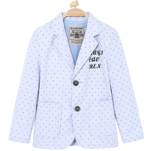Polka Dot Suit Blazer for Wedding Letter Stickers Turn-down Collar Outerwear Single Breasted Button Coat for Kids Children 6-14T
