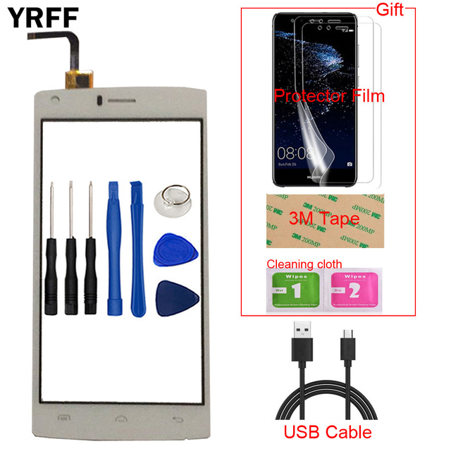 Mobile Phone Touch Screen For Doogee X5 Max / X5 Max Pro Touch Screen Glass Digitizer Panel Lens Sensor Free Protector Film Tape