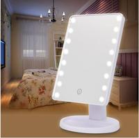 Wholesale Desk type LED cosmetic mirror Dimming rotary makeup mirror For Dressers