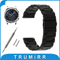 22mm de acero inoxidable venda de reloj de la correa de liberación rápida para samsung Gear S3 Clásico/Frontier de Pulsera Pulsera de La Correa Negro Oro plata