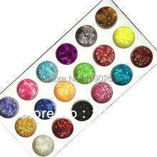 18 Цвет Кружево Глиттеры для ногтей пыли мишура нити для ногтей