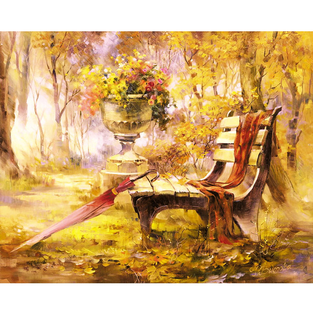 5D Diy Diamond Mosaic Diamond Painting Rhinestone Crystal Embroidery Cross Stitch Kits Needlework Garden Chair Umbrella