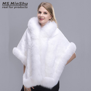 Image 3 - Capa de piel de zorro recortada Rex para mujer, chal de piel de zorro, Pashmina de piel Real, PonchoWinter, capa femenina MS.MinShu